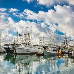 Fishing-Boats-Harbor-Blue-Clouds-San Diego