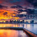 San Diego-Harbor-Island-Sunrise-Fire-Ice