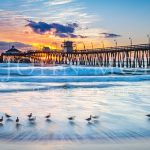 Imperial-Beach-Pier-Sunset-Ocean-Sand-Waves-Birds