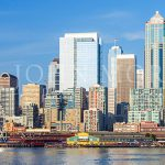 Seattle-Skyline-Ferry-Ferris-Wheel-Travel-Photography